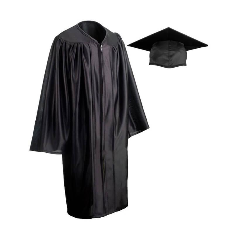 Child Cap Gown Black Large Grads4good