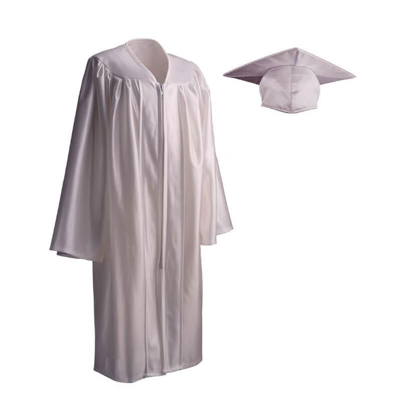 Child Cap Gown White Medium Grads4good